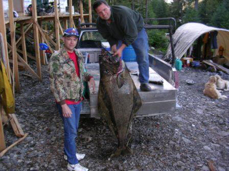 one of the large halibut caught